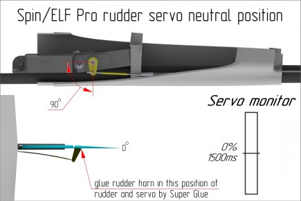03 spin_elf pro rudder servo neutral position